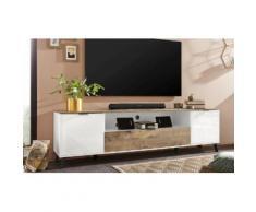 KITALY TV-Board CASANOVA, Breite ca. 220 cm weiß TV-Lowboards TV- Möbel Mediamöbel