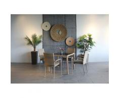 Ploß Gartenstuhl WINDSOR, 4er Set, Stahl, stapelbar braun Gartenstühle Gartenmöbel Gartendeko