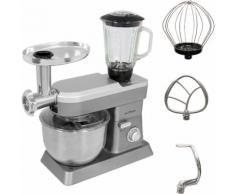 Gutfels Küchenmaschine KM 8101 si, 1200 W, 6,2 l Schüssel silberfarben Küchenmaschinen SOFORT LIEFERBARE Haushaltsgeräte