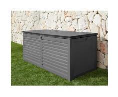 garten gut Auflagenbox, 490 Liter grau Garten- Kissenboxen Gartenmöbel Gartendeko Auflagenbox