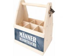 Contento Flaschenkorb Männer Handtasche, (1 tlg.), aus europäischem Holz beige Körbe Boxen Regal- Ordnungssysteme Küche Ordnung