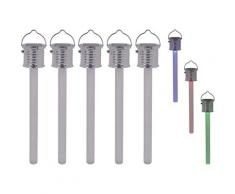 näve LED Gartenleuchte THERMOMETER silberfarben Gartenleuchten Außenleuchten Lampen Leuchten