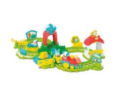Clementoni Spielzeug-Zug Baby - Farm-Eisenbahn, mit Sound; Made in Europe bunt Kinder Ab 12 Monaten Altersempfehlung