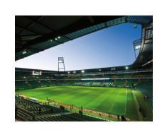 Wall-Art Fototapete Werder Bremen - Weserstadion Innen bunt Fototapeten Tapeten Bauen Renovieren