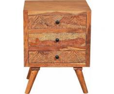 SIT Nachtkommode Carved beige Nachtkonsolen und Nachtkommoden Nachttische Tische Sideboards