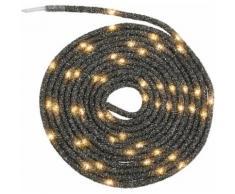 LED-Lichterschlauch Tubo, schwarz, schwarz