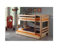 Vipack Etagenbett Pino, optional mit Bettschublade beige Kinder Kinderbetten Kindermöbel