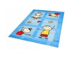 Kinderteppich, Bambino 2107, Sanat, rechteckig, Höhe 11 mm, maschinell gewebt blau Kinder Bunte Kinderteppiche Teppiche