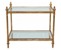 Home affaire Couchtisch goldfarben Glas-Beistelltische Glastisch Tische Tisch