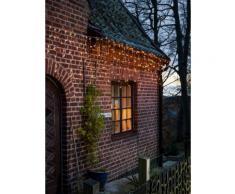 KONSTSMIDE LED Eisregen Lichtervorhang weiß Lichterketten und Lichtschlauch Dekoleuchten Lampen Leuchten Saisonartikel Weihnachten