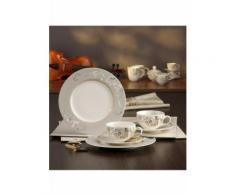 CreaTable Kaffeeservice Palacio, (Set, 18 tlg.) beige Geschirr-Sets Geschirr, Porzellan Tischaccessoires Haushaltswaren