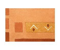 Orientteppich, Nepal Jaipur, carpetfine, rechteckig, Höhe 20 mm, manuell geknüpft orange Schurwollteppiche Naturteppiche Teppiche