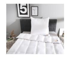 Daunenbettdecke + Kopfkissen, Edition 120 Jahre OBB, OBB weiß Bettdecken Set Bettdecken, Kopfkissen Unterbetten Bettwaren-Sets