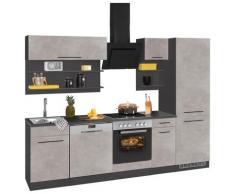 HELD MÖBEL Küchenzeile Tulsa, grau, betonfarben