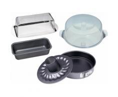 CHG Back-Set, (Set, 7 tlg.), Servier/Frischhalte-Set schwarz Backformen Backbleche Kochen Backen Haushaltswaren Back-Set