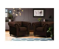 Home affaire Sessel Chesterfield braun