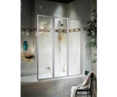 Schulte Badewannenaufsatz 3-tlg. silberfarben Duschwände Duschen Bad Sanitär