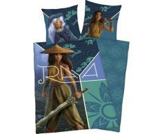 Disney Wendebettwäsche Raya, mit tollem Raya Motiv bunt Bettwäsche 135x200 cm nach Größe Bettwäsche, Bettlaken und Betttücher
