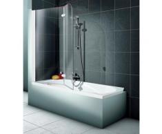 Schulte Badewannenaufsatz 2-teilig, BxH: 112 x 140 cm grau Duschwände Duschen Bad Sanitär