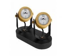 Osram Wand- / Deckenleuchte im Vintage-Stil mit 2 LED-Spots Vintage 1906 Decospot Double, goldfarben, Neutral, gold