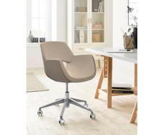 andas Drehstuhl Chiara, mit Gasdruckfeder und Rollen braun Drehstühle Bürostühle Büromöbel