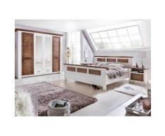 Premium collection by Home affaire Kleiderschrank Laguna mit Lamellentüren in unterschiedlichen Breiten, weiß, weiß/braun gewischt