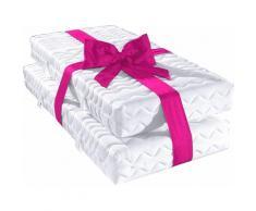 my home Komfortschaummatratze 7-Zonen, (2 St., 1 oder 2-tlg.), Tolles Preis-Leistungsverhältnis weiß Allergiker-Matratzen Matratzen