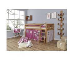 Ticaa Hochbett Eric beige Kinder Hochbetten Kinderbetten Betten