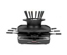 Gastroback Raclette und Fondue-Set 42567 Family and Friends, 8 St. Raclettepfännchen, 1200 W schwarz Küchenkleingeräte SOFORT LIEFERBARE Haushaltsgeräte