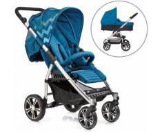 Gesslein Kombi Kinderwagen S4 Air+ Eloxiert/Petrol & Babywanne C3 Petrol, blau, Unisex, petrol