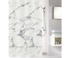 Kleine Wolke Duschvorhang Marble, Breite 180 cm, (1 tlg.), Höhe 200 mit Beschwerungsband weiß Duschvorhänge Duschen Bad Sanitär