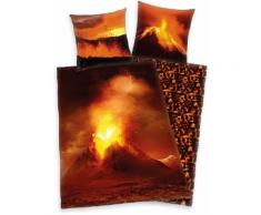 Kinderbettwäsche Vulkan Herding Young Collection, rot, rot