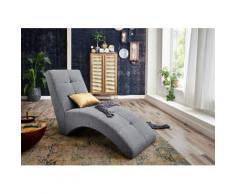 ATLANTIC home collection Relaxsessel CARIN, Polsterliege zum Lesen, Fernsehen oder auch fürs Gaming grau Sessel