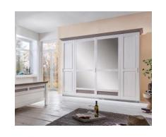 Premium collection by Home affaire Kleiderschrank Lugano in 3 Breiten, grau, weiß/taupe