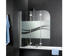 Schulte Badewannenaufsatz Komfort, teilgerahmt silberfarben Duschwände Duschen Bad Sanitär