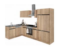 OPTIFIT Winkelküche Roth EEK B beige L-Küchen Küchenzeilen -blöcke Küchenmöbel Arbeitsmöbel-Sets