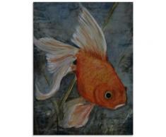 Artland Glasbild Feng Shui - Goldfisch orange Glasbilder Bilder Bilderrahmen Wohnaccessoires