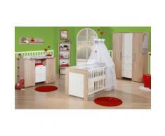 Roba Babyzimmer Set (6-tlg) Kinderzimmer Daniel M, weiß, Neutral, weiß/eiche