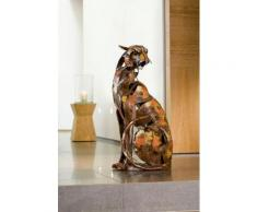 GILDE Tierfigur Skulptur Serengeti Hunter braun Tierfiguren Figuren Skulpturen Wohnaccessoires Dekofiguren