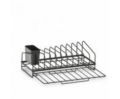 Zeller Present Geschirrständer, Industrial Design, Metall schwarz Abtropfgestelle Küchenhelfer Haushaltswaren Geschirrständer