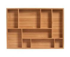 Zeller Present Schubladeneinsatz Bamboo (1 Stück) beige Küchen-Ordnungshelfer Küchenhelfer Küche Schubladeneinsätze