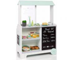 """MUSTERKIND Spielküche Kaufladen """"Piperis"""" Holz, weiß, Unisex, weiß-grün"""