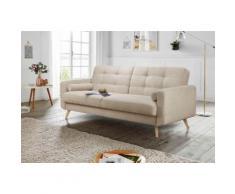andas 3-Sitzer Jelle, auch mit Bettfunktion und Bettkasten, inkl. Rollkissen braun Sofas Einzelsofas Couches