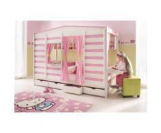 Silenta Bett, rosa, weiß, pink