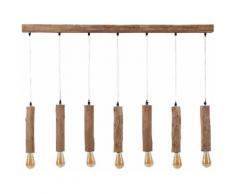 SalesFever Hängeleuchte Lilly, E27, Baumstammartige Schirme aus Eukalyptus Holz beige Deckenleuchten SOFORT LIEFERBARE Lampen Leuchten
