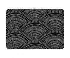 queence Platzset PS0117 schwarz Platzsets Tischwäsche Tischdecken