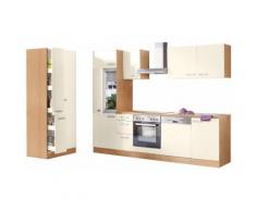 Küchenzeile mit E-Geräten, OPTIFIT, »Odense«, Breite 270 cm, natur, creme