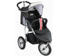 knorr-baby Jogger-Kinderwagen, »Joggy S Sports Style«, schwarz, Unisex, schwarz-weiß