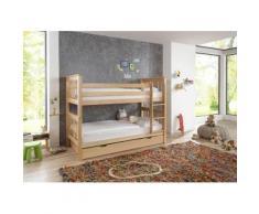 Relita Etagenbett Kick, wahlweise mit Bettschublade, Buche beige Kinder Kinderbetten Kindermöbel
