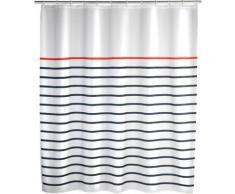 WENKO Duschvorhang Marine White, Breite 180 cm, Höhe 200 Polyester, waschbar bunt Badmöbel